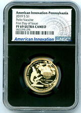 2019 S $1 PENNSYLVANIA NGC PF69 PROOF AMERICAN INNOVATION DOLLAR FIRST DAY ISSUE