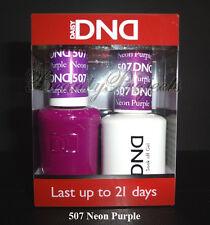 DND Daisy Soak Off Gel Polish Neon Purple 507 full size 15ml LED/UV gel duo