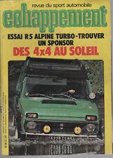 ECHAPPEMENT 157 1981 R5 ALPINE TURBO DATSUN PATROL 504 DANGEL & TOYOTA HI-LUX