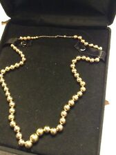 14k Yellow Gold Vintage Add-A Bead Necklace 18 Inches 6 Grams