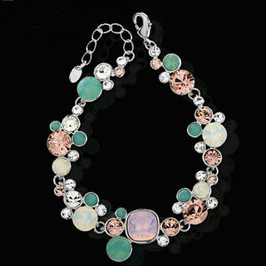 Multi Coloured Bracelet Jewellery Made with Genuine Swarovski Elements Crystals