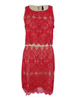 Kensie Women's Layered Lace Dress XL, Rouge