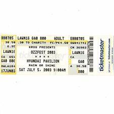 Ozzy Osbourne & Korn & Marilyn Manson Concert Ticket Stub 7/5/03 San Bernardino