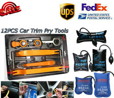 12Pcs Car Panel Removal Open Pry Tools+Air Wedge Pump Bag Alignment Leveling Kit