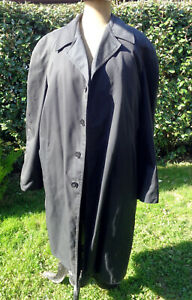 Manteau pluie, gabardine noire, doublure amovible hiver, militaire gendarmerie