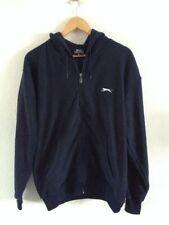 Men's Polyester Fleece Jacket By Slazenger Size M Navy Blue <R15321