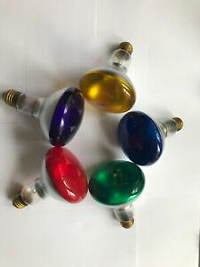 Reflektorlampe 5x R95 75W farbig E27 Strahler dimmbar gelb grün rot blau violett