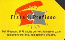 36-Scheda telefonica fissa il prefisso 30/06/2000 lire 5.000