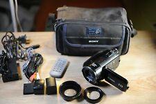Canon Legria HFS10 + 3 BATTERIES+ CLOSE UP LENSES+ BAG! $$$ PAL