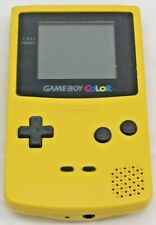 Nintendo Game Boy Color Yellow  With Battery Cover Working/Tested