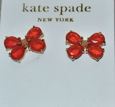NWT Kate Spade Garden Path BUTTERFLY STUD EARRINGS NWT FLO ORANGE CRYSTALS MOTH