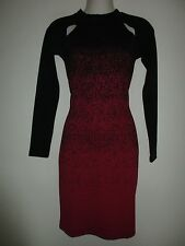 NWT FRENCH CONNECTION Sold Out Everywhere!  Black/Red Ombre' Dust Jersey Dress 4
