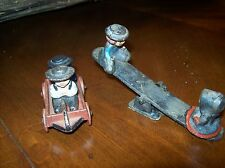 Vintage Amish Toys Seesaw & Wagon with Amish Boys & Girls Mini Metal Toys Wilton