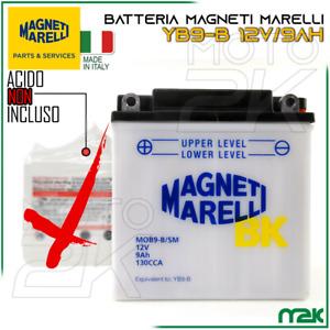 BATTERIA MAGNETI MARELLI 12V 9AH 130A YB9-B SPECIFICA PER SCOOTER MOTO VESPA
