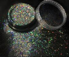 New Women Bling Nail Flecks Powder Galaxy Holo Flake Chrome Laser Flake Pop