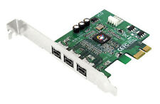SIIG DP FireWire 800 PCIe Card Adapter, Brackets Included (NN-FW0012-S1)