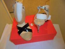 Ivanka Trump Heels - Black  Multi Patent  Sazzy Mixed-Media Sandal  Black 9.5