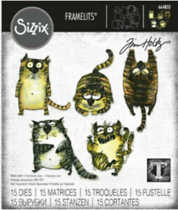 Tim Holtz Snarky Cat Framelits RETIRED Die-RARE FIND!-OFFICIAL SIZZIX 664803