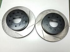 FRONT LEFT /& RIGHT Stoptech SportStop Drilled Slotted Brake Rotors STF66000
