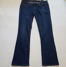 ED HARDY Sz 5/6 Denim Jeans Womens Low Rise Medium Wash Stretch Straight Leg