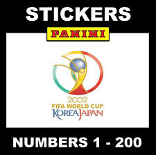 Panini World Cup 2002 Stickers #1-200 (Black Back)