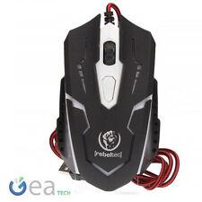Rebeltec COBRA Mouse da gaming 2400dpi ergonomico illuminato led sensore pixart