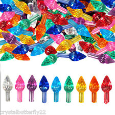 54 Vintage Small Twist Flames in 9 colors for Ceramic Christmas Trees + BONUS