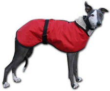 Whippet Walking Out Dog Coat. Water-resistant microfiber, fleece-lined