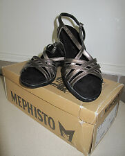Mephisto Women's Sandals Pewter Metallic Cubana sz 9 US EU 39 New Box