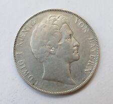 """1 Gulden 1843 """"Ludwig I Koenig von Bayern"""", silver coin"""