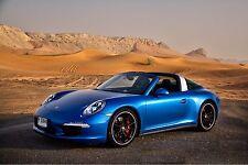 2015 Porsche 911 Targa ( blue ) 24 x 36 Poster