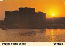 B96331 paphos castle sunset cyprus