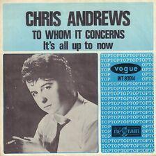 "CHRIS ANDREWS – To Whom It Concerns  (1965 VINYL SINGLE 7"" DUTCH PS)"