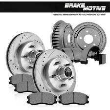 Front Brake Rotors + Ceramic Pads & Rear Drums + Shoes Express Suburban Savana