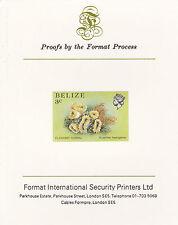 Belize 5105 - 1984 Vita Marina 3C Imperf in formato internazionale prova CARD
