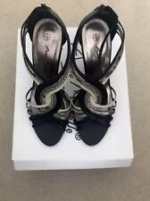 Ladies Anne Michelle Stilletoes Black Multi Size 5 With Original Box Worn Twice