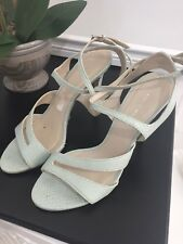 Karen Millen Mint Green Heeled Sandals Size 40  6.5