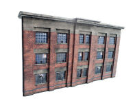LOW RELIEF 1930s FACTORY CARD KIT N GAUGE / 2MM SCALE FOR MODEL RAILWAY
