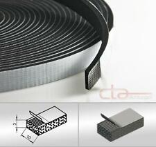 10 m Rolle Moosgummi Selbstklebend 10x3 mm Zellkaukautschuk EPDM schwarz 1C16-13
