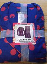 Joe Boxer Ladies Flannel Pajamas Purple Blue with Pink Polka Dots Sz 1X - NWT!