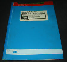 Microfich Audi 80 90 Typ 89 B3 Vergaser Motor JV NE PP RN RU SE SF ab 1987