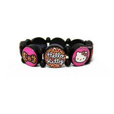 Sanrio Hello Kitty Leopard Bow Tile Stretch Bracelet