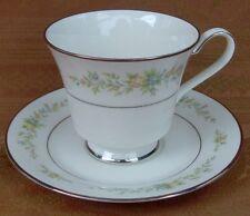 "Noritake Ivory China Christina Pattern # 7056 Footed Cup & Saucer Set 3"""
