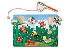 Melissa and Doug Magnetic Bug Catching Game NEW wooden puzzle eye-hand develop