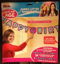 Nickelodeon iCarly Jumbo Letter Banner Birthday Party Supply Favor