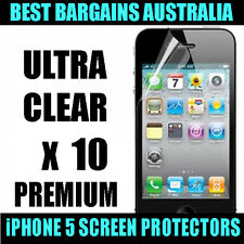 Apple iPhone 5 5S 5SE Ultra Clear LCD Screen Guard Protector Film x10