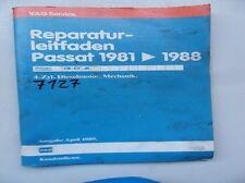 Werkstattbuch Reparaturleitfaden VW Passat 1981>1988 4-Zylinder Dieselmotor#7127