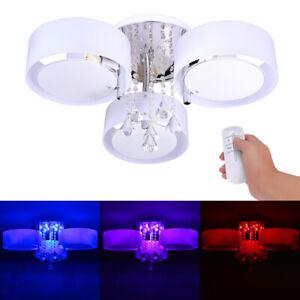 LED Crystal Ceiling Light Chandelier Lamp Kitchen Bed Modern Living room Lights