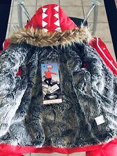 Sprayground Sky High Seekers Chopper Mens Winter Jacket Size XL Zip Pockets Red
