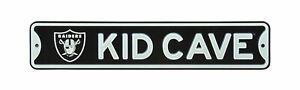 "Oakland Raiders NFL Metal Kid Cave 16"" x 3.25"" Sign - New"